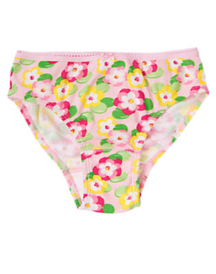 Toddler Girls Pale Pink Lily Water Lily Panty by Gymboree
