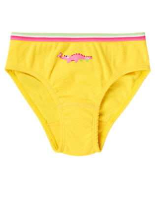 Toddler Girls Bright Yellow Crocodile Panty by Gymboree