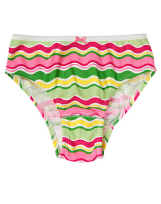Toddler Girls Melon Green Stripe Wavy Stripe Panty by Gymboree