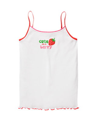 Toddler Girls White Cute As A Berry Cami by Gymboree
