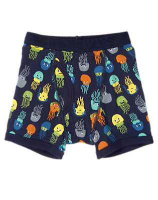 Toddler Boys Deep Navy Jellyfish Boxer Brief by Gymboree