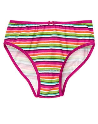Girls Magenta Pink Stripe Stripe Panty by Gymboree