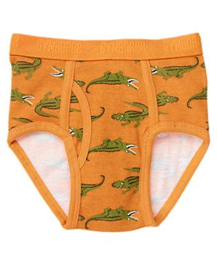 Toddler Boys Dusty Orange Alligator Brief by Gymboree