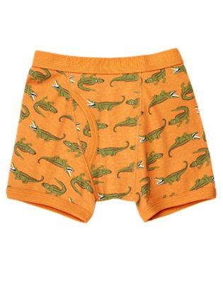 Toddler Boys Dusty Orange Alligator Boxer Brief by Gymboree