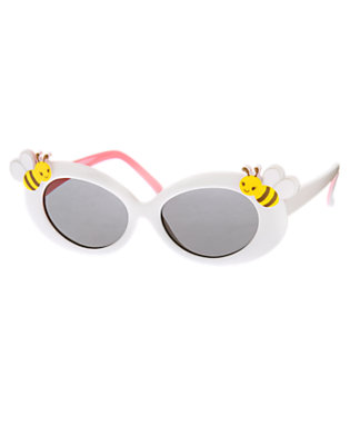 Toddler Girls White Bee Sunglasses by Gymboree