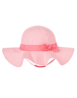 Bright Pink Stripe Stripe Seersucker Sunhat by Gymboree