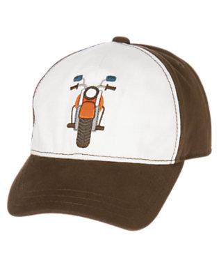 Toddler Boys Desert Brown Motorcycle Baseball Cap by Gymboree