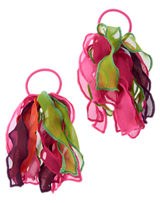 Girls Tropical Pink Organza Pony Holder Two-Pack by Gymboree