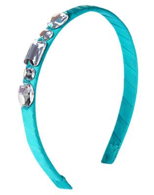 Aqua Blue Gem Ribbon Headband by Gymboree