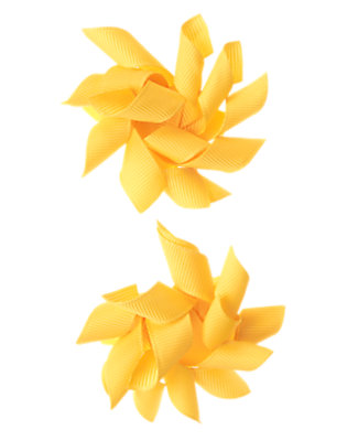 Toddler Girls Sunrise Yellow Jumbo Curly Hair Clip Two-Pack by Gymboree