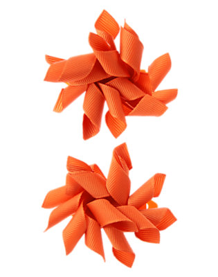 Toddler Girls Tangerine Orange Jumbo Curly Hair Clip Two-Pack by Gymboree