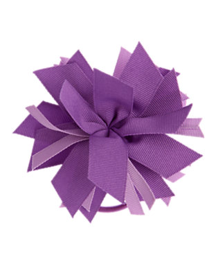 Girls Purple Orchid Ribbon Corsage Pony Holder by Gymboree