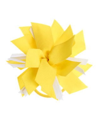 Girls Summer Yellow Ribbon Corsage Pony Holder by Gymboree