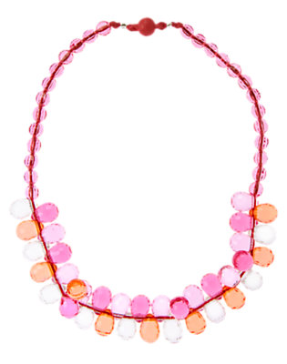 Girls Tropical Pink Faceted Bead Necklace by Gymboree