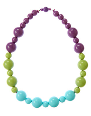 Girls Purple Orchid Bead Necklace by Gymboree