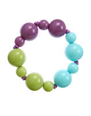Purple Orchid Bead Bracelet by Gymboree