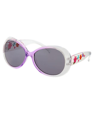 Girls White Flower Ombre Sunglasses by Gymboree