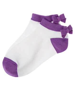 Girls Purple Orchid Short Bow Sock by Gymboree