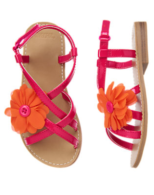 Tropical Pink Corsage Flower Sandal by Gymboree