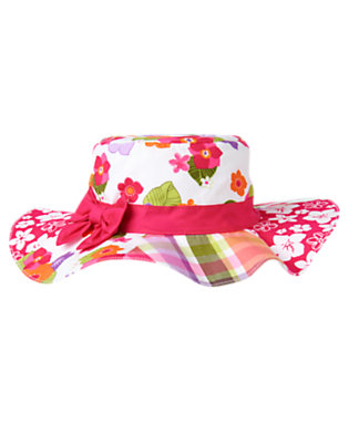 Toddler Girls Tropical Pink Tropical Mixed Print Sunhat by Gymboree