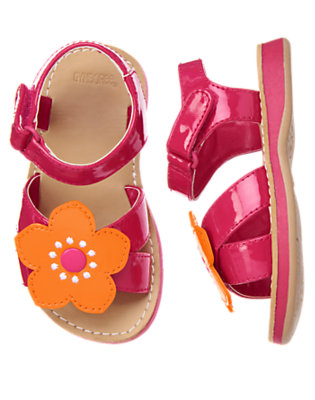Tropical Pink Flower Sandal by Gymboree