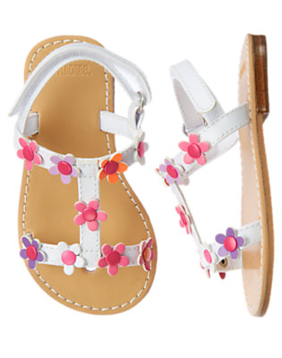 White Blossom Sandal by Gymboree