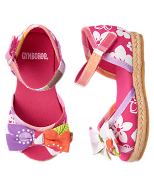 Tropical Pink Tropical Mixed Print Espadrille Sandal by Gymboree