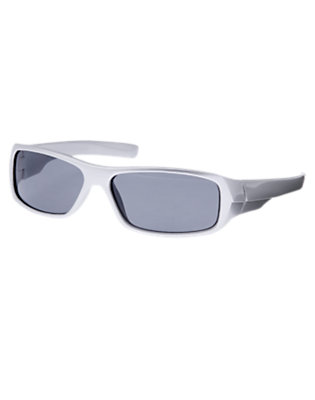 Boys Metallic Silver Metallic Sunglasses by Gymboree