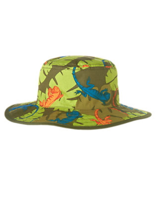 Boys Iguana Green Leaf Iguana Leaf Bucket Hat by Gymboree