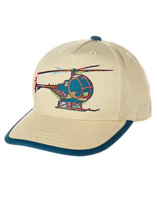 Boys Light Khaki Helicopter Baseball Cap by Gymboree