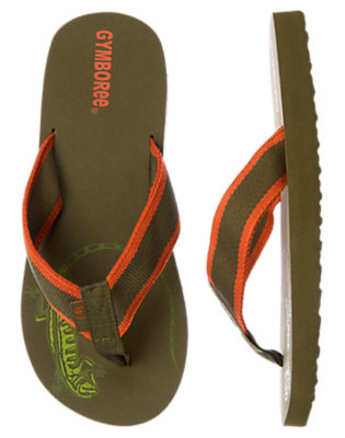 Iguana Green Iguana Flip Flop by Gymboree