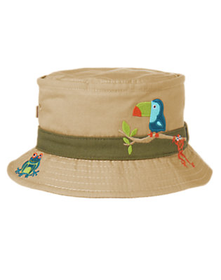Desert Khaki Jungle Friends Bucket Hat by Gymboree