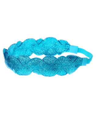 Metallic Aqua Metallic Ric Rac Headband by Gymboree