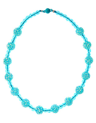 Iridescent Dolphin Blue Iridescent Bauble Necklace by Gymboree