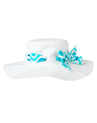 White Tile Print Banded Sunhat by Gymboree
