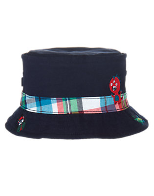 Toddler Boys True Navy Monster and Bugs Bucket Hat by Gymboree