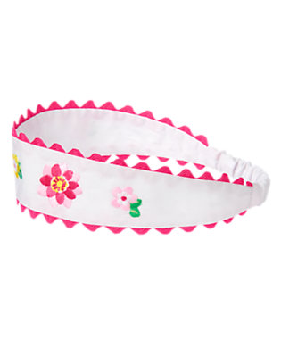 Girls White Ric Rac Water Lily Headband by Gymboree