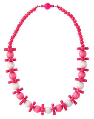 Girls Island Pink Flower Bead Necklace by Gymboree
