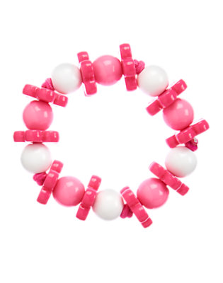 Girls Island Pink Flower Bead Bracelet by Gymboree