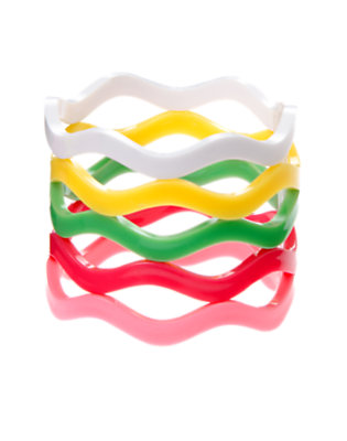 Girls Island Pink Wavy Bangle Bracelet Five-Pack by Gymboree
