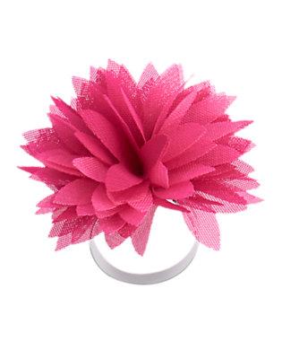 Island Pink Chiffon Flower Ring by Gymboree