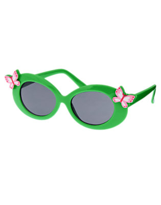 Girls Pond Green Butterfly Sunglasses by Gymboree