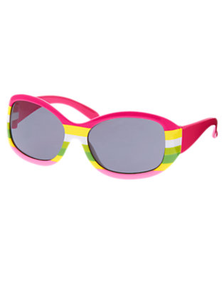 Island Pink Stripe Sunglasses by Gymboree