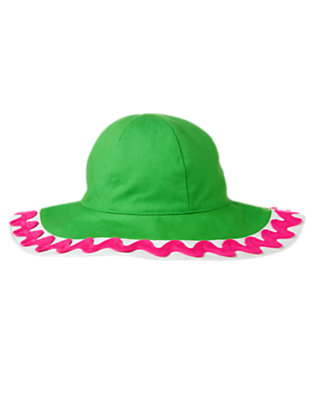 Girls Pond Green Ric Rac Canvas Sunhat by Gymboree