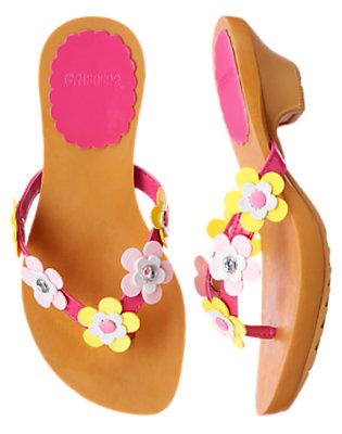 Island Pink Gem Flower Flip Flop Sandal by Gymboree