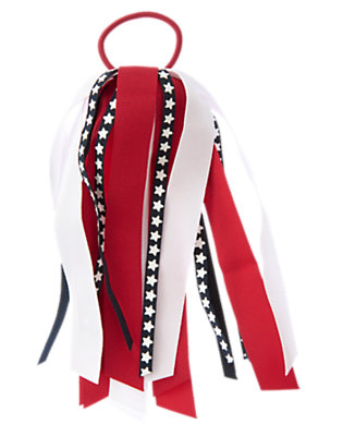 Girls Flag Red/White All-American Streamer Pony Holder by Gymboree