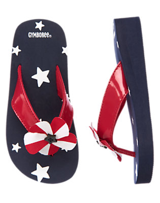 Girls Summer Navy All-American Flip Flop by Gymboree