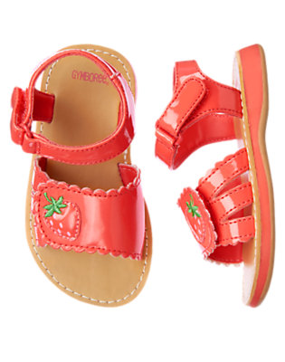 Summer Coral Strawberry Patent Sandal by Gymboree