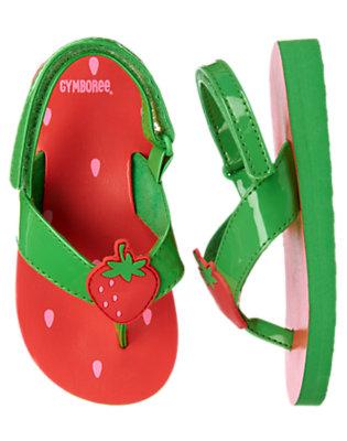 Summer Coral Strawberry Flip Flop by Gymboree