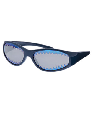 Toddler Boys Deep Navy Shark Graphic Sunglasses by Gymboree